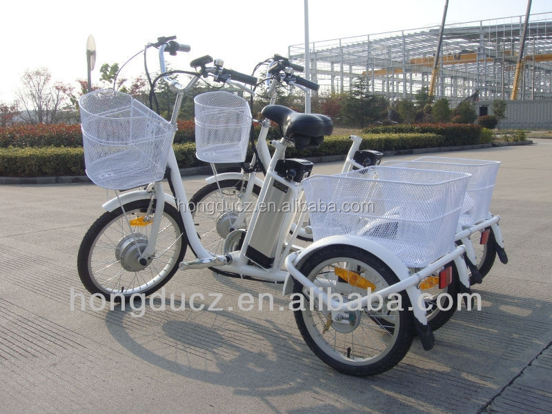 buy green power 3 wheel electric tricycle with pedal assisted for adult 250W 36V