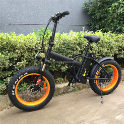 2016 hottest susoension 4.0 fat tire folding e bike beach cruiser with fender