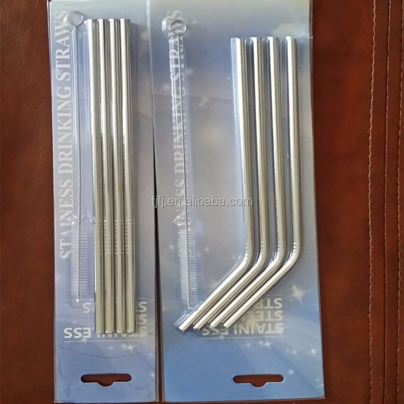 big custom printed stainless steel drinking straw