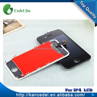 Foxconn wholesale price flexible lcd display for iphone 4 touch screen