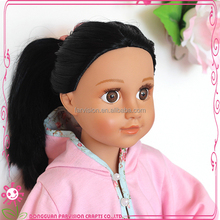 Vinyl doll face 18 inch CE doll oem skin color changing dolls