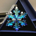 2017 optical crystal glass snowflake suppliers of crystal hanging for gift