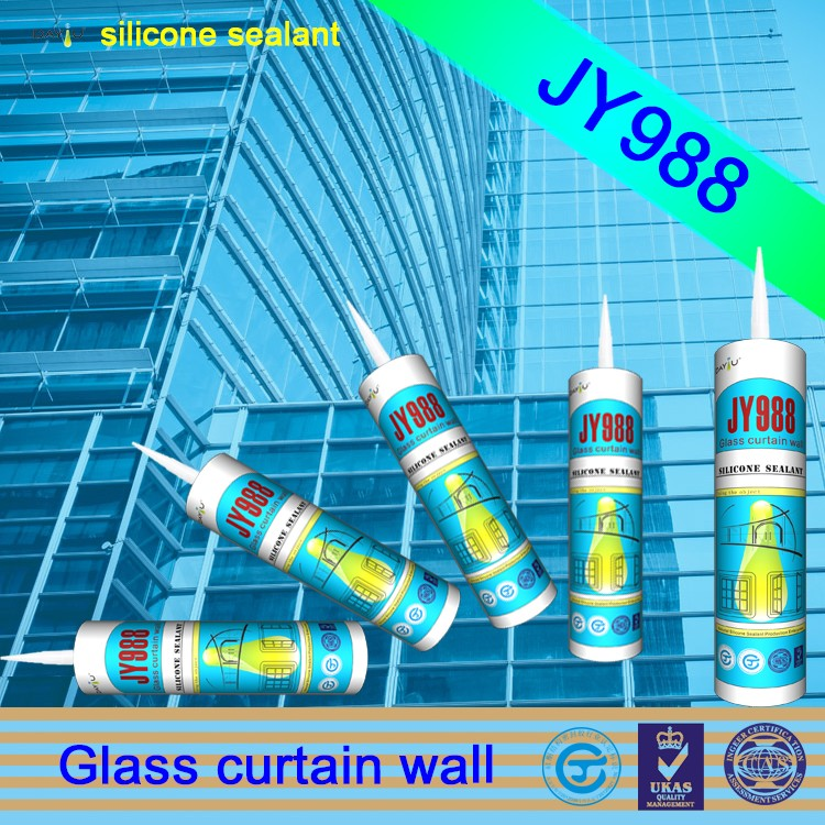 JY988 excellent viscosity outdoor construction glue adhesive rtv weather proof silicone sealant