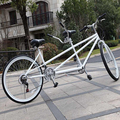 26 inch 18 speeds two people double seats mountain tandem bicycle