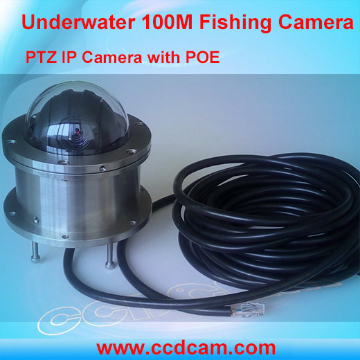 Tough cable 1080P PTZ ip camera underwater working 100M camera