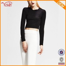 Long sleeve blank crop tops wholesale cheap,import clothing from china