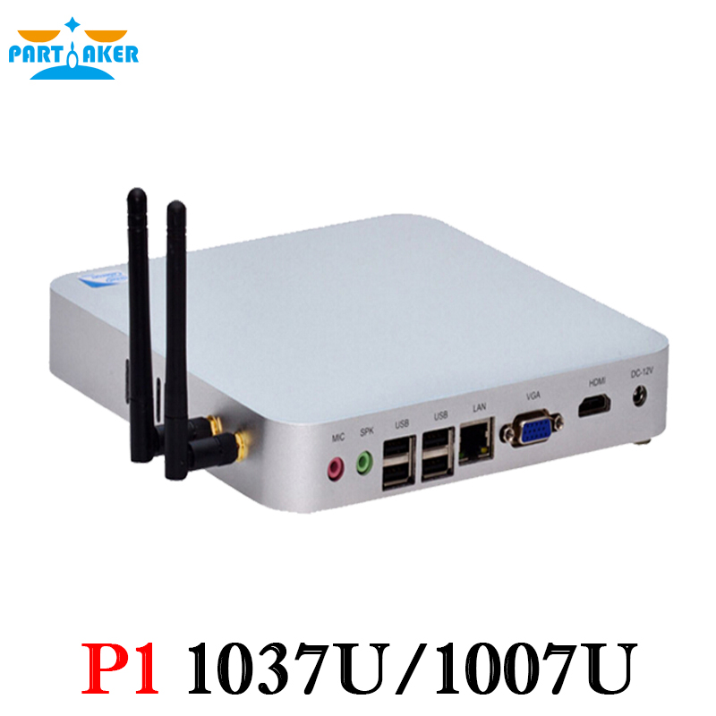 Partaker C1037U Fanless Oem Mini PC With 29MM Extreme Ultra Thin Chassis