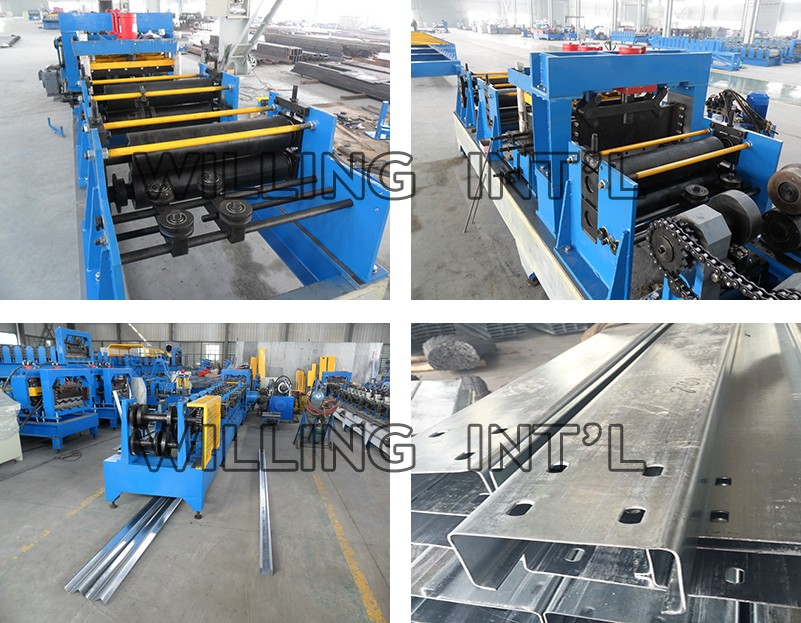 Machinery Automatic Changeable C/Z Profile Perlin Roll Making Device