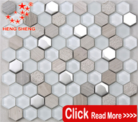 HSL20 Luxury bathroom design stone & glass mosaic art in china company