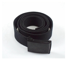 Nylon canvas webbing military nylon belt with plastic buckle
