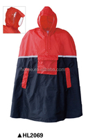 OEM foldable two tone color bike poncho