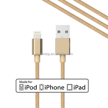 alibaba china guangdong wholesale 8 pin usb data sync charger cable cord for iphone 5S/5C iPod touch 5 data cable Nano 7 gold