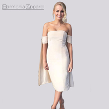 C204 high quality pure 100%silk slash neck off the shoulder cape style women silk dress
