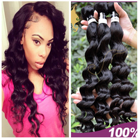 Great feedback hair weaving for black women wholesale pure indian remy virgin human hair weft