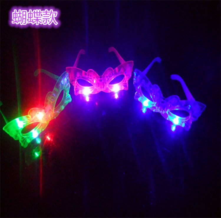 Colorful LED Glasses Laser Flashing Glasses Light Party Glow Mask Christmas Halloween Gift Glow Blinking Glasses