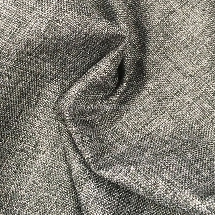 100% Polyester imitation linen look cation fabric PU coated Waterproof 600D Oxford fabric