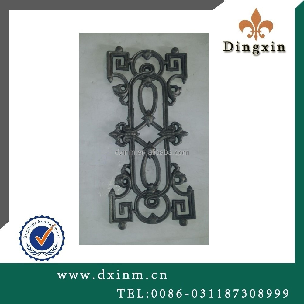 The decorative wrought iron panels and cheap metal fencing usually used the ornamental cast iron for sale