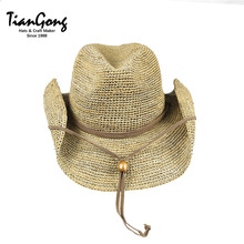 Wholesale Promotional Cheap Online Shopping Raffia Straw Cowboy Hat