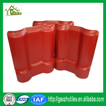 weather resistant custom-made 2 layers pvc roofing tiles synthetic tile roofing