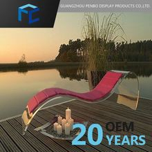 Small Order Accept Acrylic Outdoor Furniture Sunbed