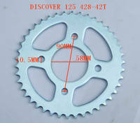 South America Motorcycle Transmission Kit BAJAJ Chain Sprocket 114L