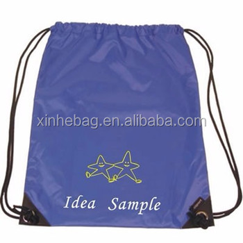 Wholesale new arrival economy sports drawstring backpack, lightweight and portable