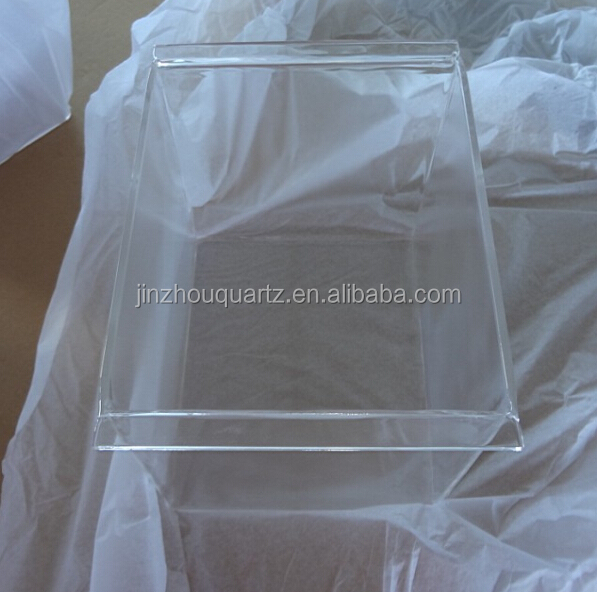 Transparent Clear Fused silicon Quartz container/Quartz tank