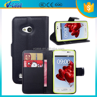 VCASE Hot selling PU Leather Wallet Cover Stand Flip Case for LG L60