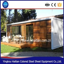 2016 pop hot sale new good nice customized wood prefabricated house made from brown or reddish Vietnam mixed hardwood