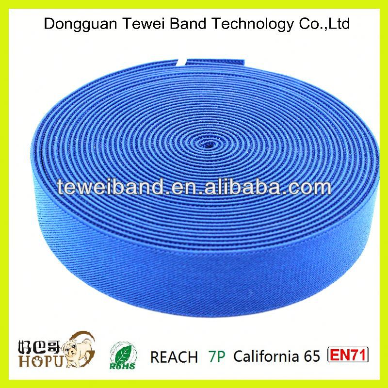 Blue national jacquard elastic band for bag and hats