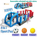 Happy Hop Inflatable 9072N--Inflatable Soccer Field 3 in 1