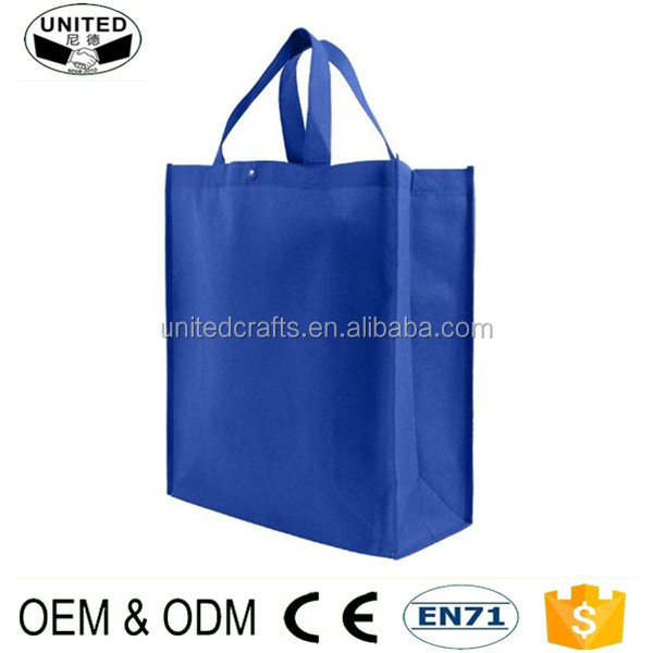 2017 cheap non woven fabric reusable folding shopping bag with custom logo