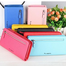 2017 popular design leather purse women purse