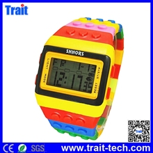 Building Block Digital Casual Watches Led Display Toy Brick Wrist Watche for Male Female