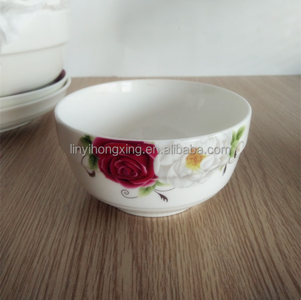 Stocked homeware for 4.5'' thicken edge type cheap white ceramic bowls