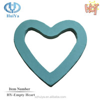 wholesale empty heart floral foam oasis flower mud for wedding decoration