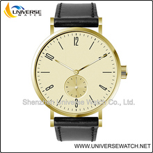 Simple design 3 ATM watch with stainless steel slim-line case UN6203G-F