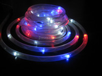 Free shipping high quality Solar Power Led Rope light Family Garden Light Waterproof Christmas Decoration