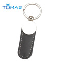 Personalized metal leather keyring