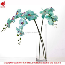 Seda Artificial blue orquídeas orquídeas artificiais flor atacado