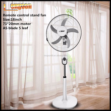 Stand remote control fan Electrical ABS 18inch fan with CE ROSH