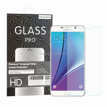 For Samsung Galaxy Note 5 Tempered Glass Screen Protector, 9H 0.26 MM Rounded Edge Dust-free Fingerprint-free Bubble free