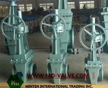 rubber lining wedge gate valve with manual operation