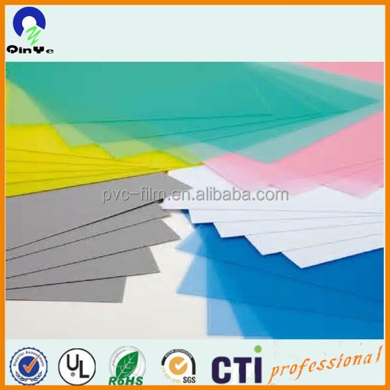 Colorful Embossed Frosted Rigid PVC Sheet for Notebook Binding