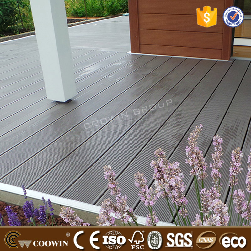 Weather proof high density wood timber WPC waterproof garden decking board