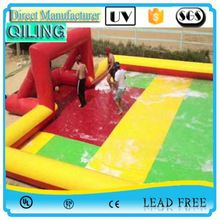 2017 1st quality human football inflatable stadium soapy
