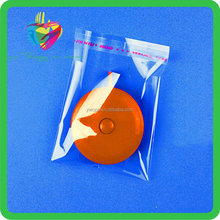 factory produce Clear plastic opp header bags with hang hole and self adhesive tape