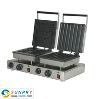 Hot sale snack machine of non-stick egg wffle grill with factory price