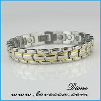 hot sell 2013 new design stainless steel bracelet in vivace jewelry, titanium magnetic bracelet