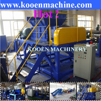 Twin shaft shredder for PP PE film crushing